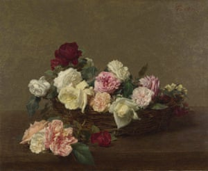 Flower power … Ignace-Henri-Théodore Fantin-Latour: A Basket of Roses (1890), which inspired Peter Saville's cover for Power Corruption and Lies.