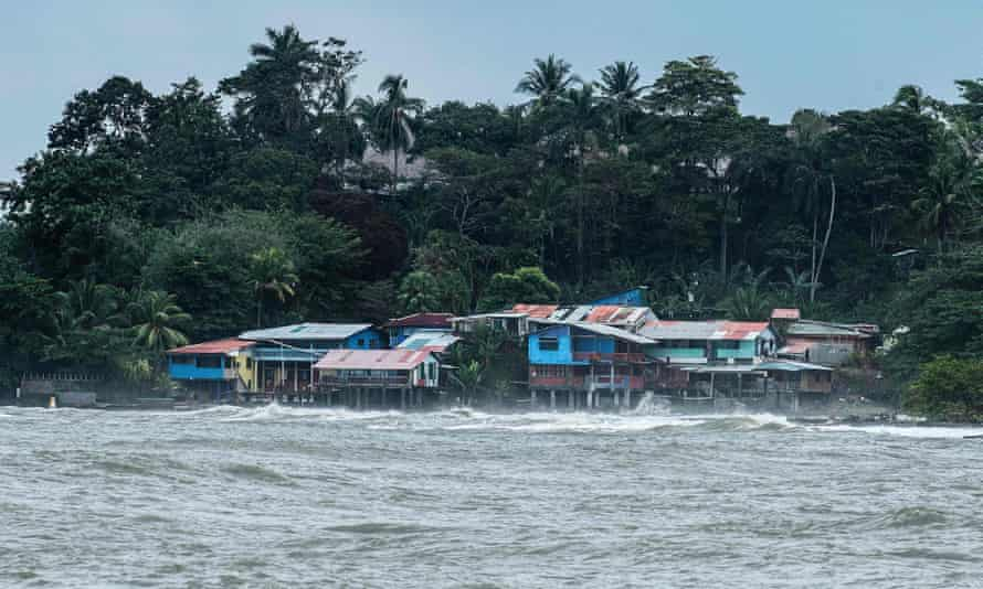 Waves lap on Playa Bonita in Limon, Coast Rica, which declared a state of emergency as hurricane Otto approached.