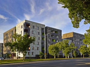 Redeveloped housing in Carlton.