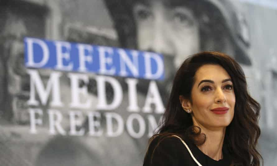 International human rights lawyer Amal Clooney