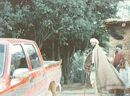 Osama bin Laden in Tora Bora, Afghanistan, in 1996