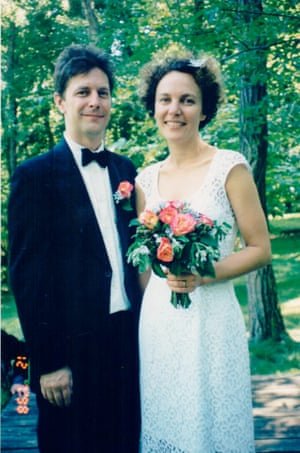 The couple on their wedding day in 1998