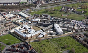 Aerial view of HM Prison Leeds