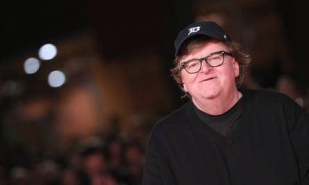 Michael Moore at the Rome film festival screening of his Fahrenheit 11/9 earlier this month.