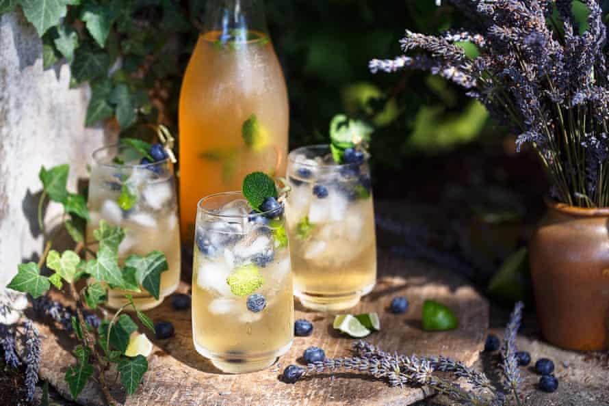 Glasses of summer cocktails