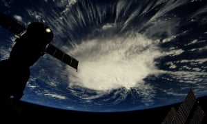 A photo taken from the International Space Station by astronaut Ricky Arnold shows Hurricane Florence over the Atlantic Ocean.