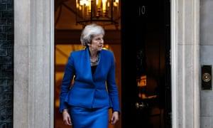 Theresa May at No 10 Downing Street