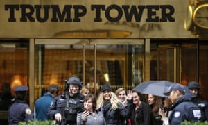 The entrance to Trump Tower in New York.