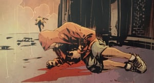 The image of a dead black boy in Batman comic #44, wearing a similar hooded sweatshirt to that worn by Trayvon Martin.