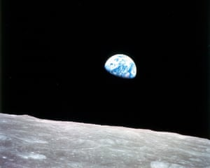 'A thrilling swirl of land, water and cloud' … Earthrise by Apollo 8's William Anders.