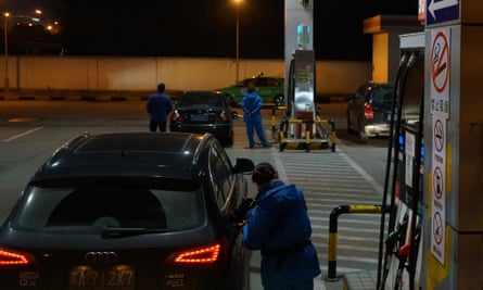 Cars refuelling in China.