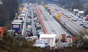 Traffic jams on the motorway