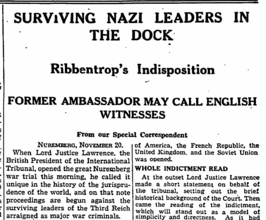 The Guardian, 21 November 1945.