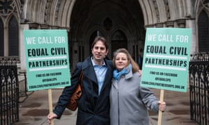 Charles Keidan and Rebecca Steinfeld outside the Royal Courts of Justice on 21 February 2017.