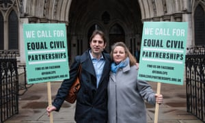 Charles Keidan and Rebecca Steinfeld outside the Royal Courts of Justice in London