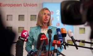 Federica Mogherini, the EU foreign affairs high representative