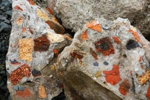 Broken masonry