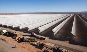 Thermo-solar power plant in Beni Mathar, Morocco.