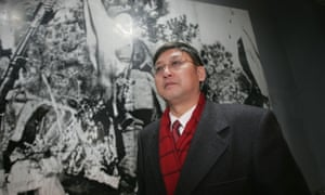Fan Jianchuan at the opening ceremony of his museum town in Sichuan Province, China.