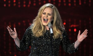 Adele in concert.