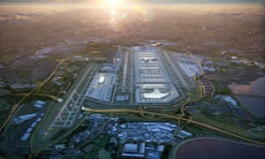 An architects' impression of the Heathrow third runway expansion, 2019