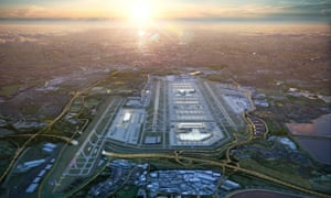 Artist's impression of the new masterplan for expansion at Heathrow airport.