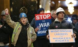 wisconsin unions rally