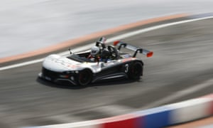 Enzo Bonito competes in the Race of Champions Nations Cup at Foro Sol in Mexico City