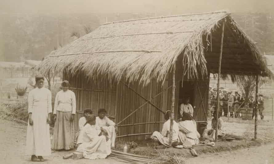 A 'human zoo in 1897 in Belgium.
