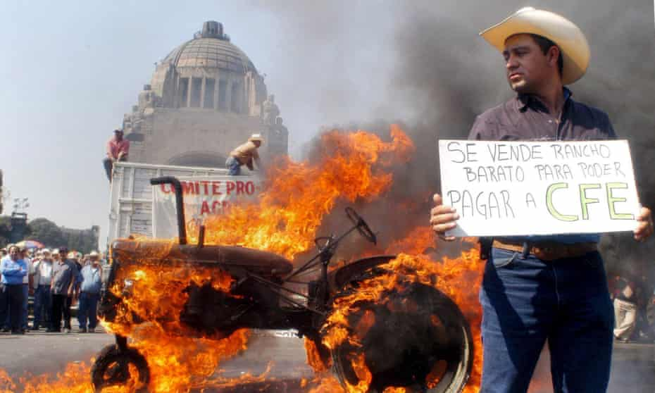 Protest against Nafta in Mexico City in 2008.