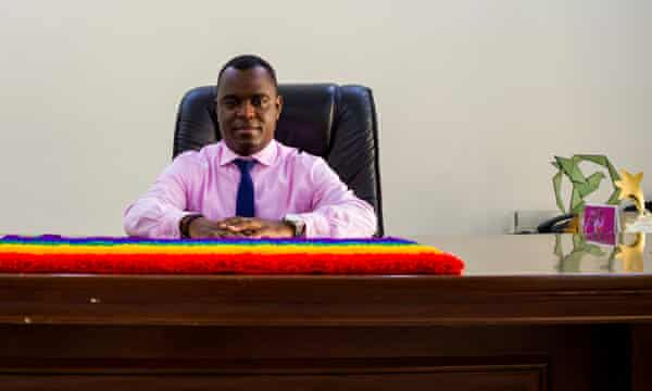Ugandan LGBTQ+ activist Frank Mugisha.