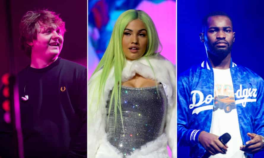 Leading Brits nominees, from left, Lewis Capaldi, Mabel and Dave.