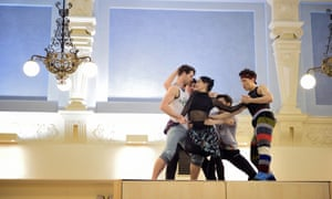 Tamara Rojo and dancers in rehearsal for Broken Wings, part of She Said at Sadler's Wells.