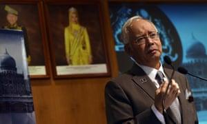 Najib Razak at the prime minister's office in Putrajaya, Malaysia.