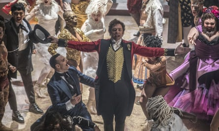 Hugh Jackman as Phineas T Barnum in The Greatest Showman.