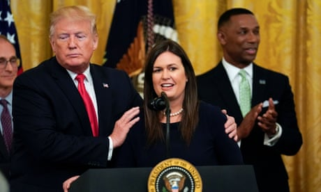 Sarah Sanders to stand down as Trump's press secretary – as it happened