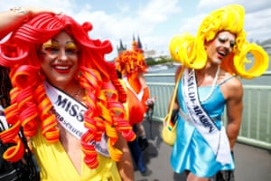 Cologne, GermanyParticipants take part in the annual Christopher Street Day (CSD) Gay Pride parade