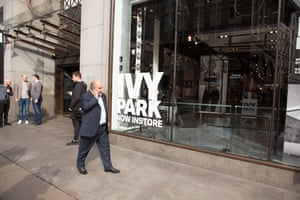 Sir Phillip Green outside Topshop Oxford Circus - Guardian fashion at the launch of Beyoncé's Ivy Park clothing line in 2016.