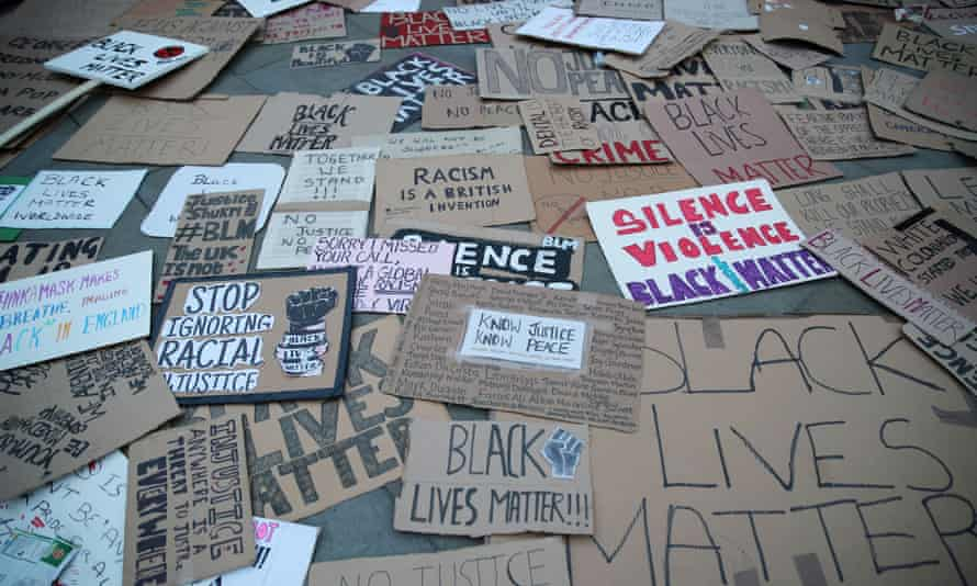 Black Lives Matter placards