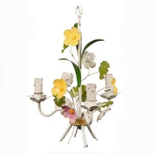 Little flower chandelier, £165, in painted metal, ceraudo.com
