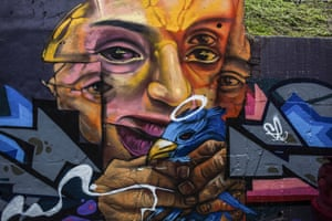 Medellín's walls have become a canvas to tell stories of the city's past, when gangs and drugs ruled the streets