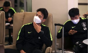 The South Korean team arrives in Russia.