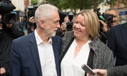 Jeremy Corbyn celebrates Labour candidate Lisa Forbes' win in the Peterborough byelection in June 2019