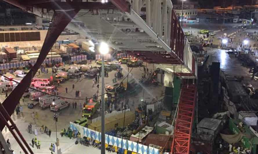 More than 100 people were killed when a crane collapsed in Mecca earlier this month. Mail Online saw fit to include references to Osama bin Laden and 9/11 in the headline of its story about the disaster.