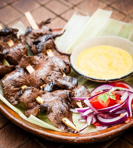 Cow-heart anticuchos from Ceviche.