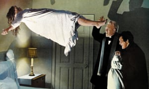 Linda Blair, Max Von Sydow and Jason Miller in The Exorcist.