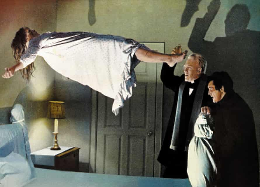 LInda Blair, Max von Sydow and Jason Miller in scene from The Exorcist.