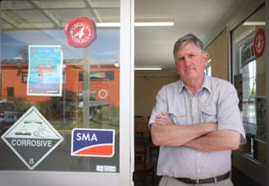 Independent candidate Rob Taber at his shop in Armidale