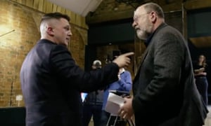 A frank exchange of words with Tommy Robinson during filming for Panorama.