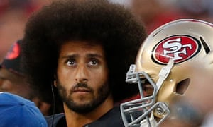 Colin Kaepernick on the sidelines